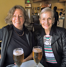 Pamela Moore and Louise Hauck celebrating a great workshop weekend.