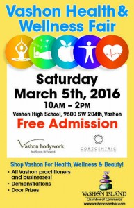 2016 Vashon Health & Wellness Fair poster
